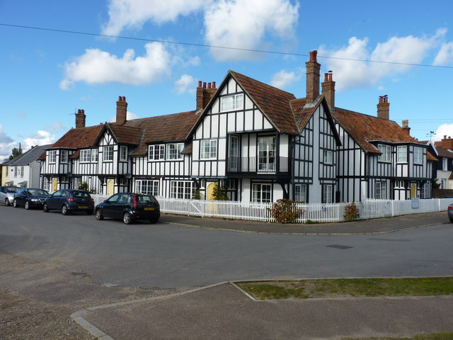 Mock Tudor cottages in Thorpeness