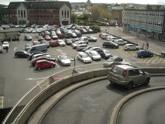 Exit ramp, Sherborne Road car park