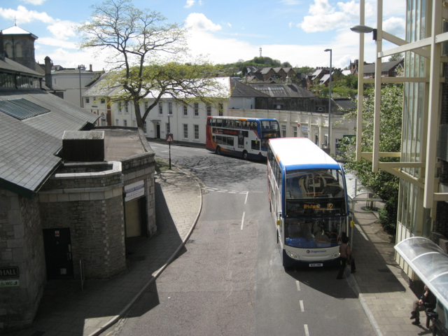 Bus station, Sherborne Road, looking west