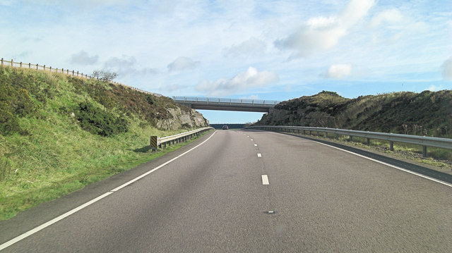 A30 footbridge leading to Brockabarrow Common