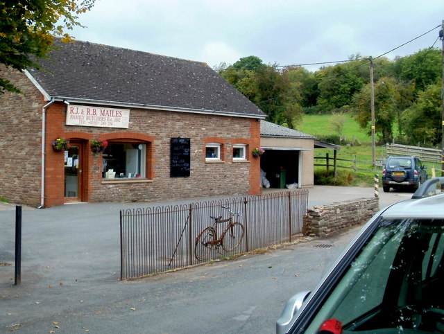 Mailes family butchers, Ewyas Harold