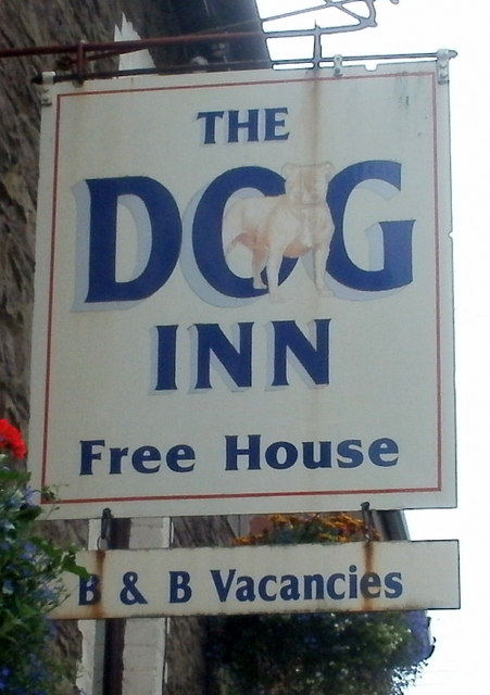 The Dog Inn name sign, Ewyas Harold