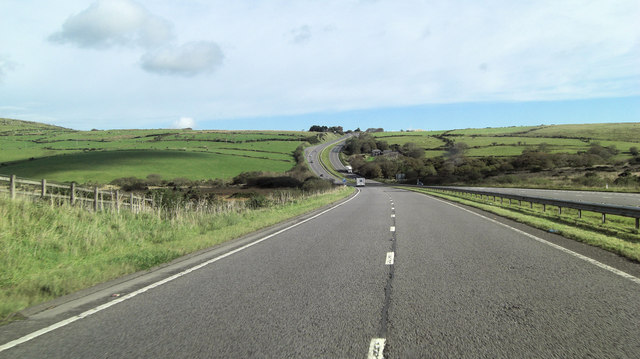A30 northeast of Jamaica Inn