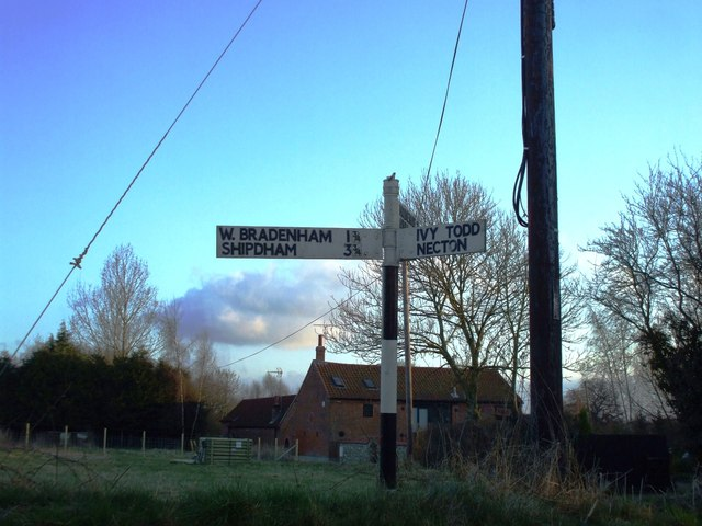 Signpost at West End
