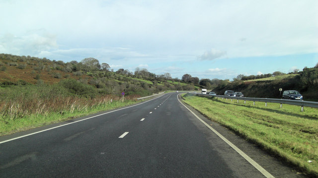 A30 southeast of Trewint Downs