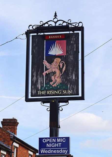 The Rising Sun (2) - sign, 139 Kidderminster Road, Wribbenhall, Bewdley