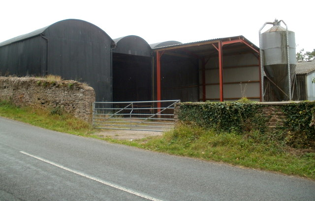 Farm buildings, Court Farm, Pontrilas