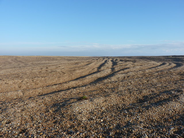 Shingle ridges on Sudbourne Beach