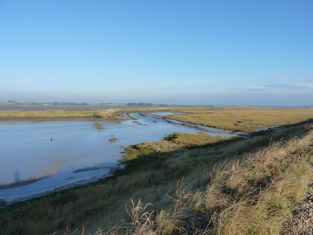 The marsh behind Sudbourne Beach