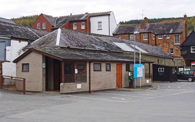 Public convenience, Larkey Lane, Knighton, Powys