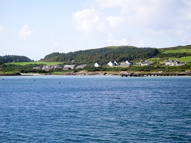 Coast at Ardminish viewed from incoming ferry