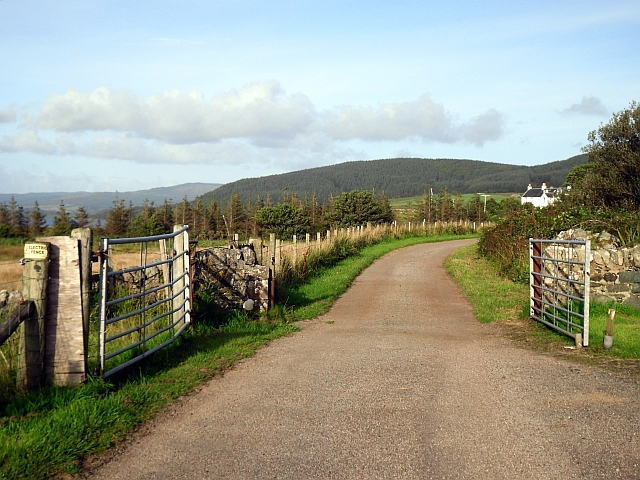 Gate on unclassified public road