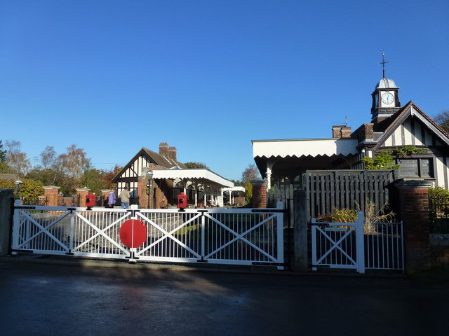 The Royal Station, Wolferton - The level crossing gates