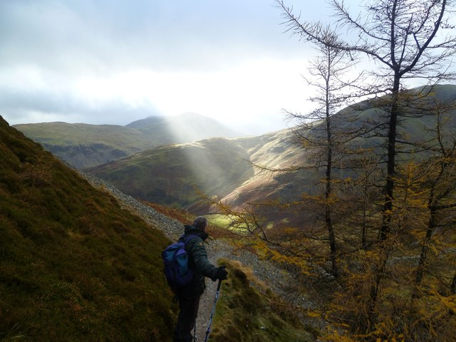Man Sees Sunlight in Lake District