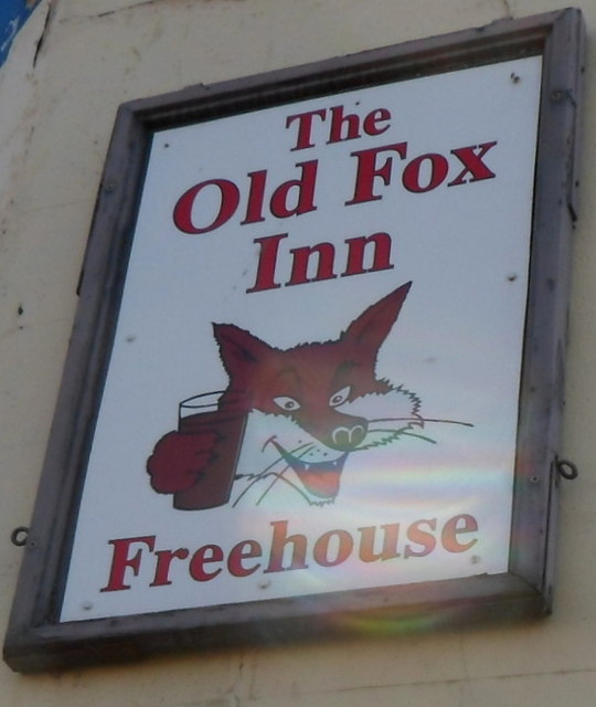 The Old Fox Inn name sign, St Philips, Bristol
