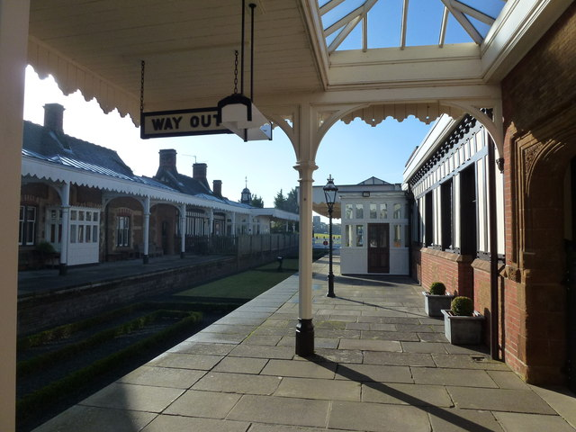 The Royal Station, Wolferton - Looking along the platform