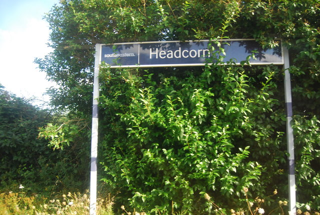Station sign, Headcorn