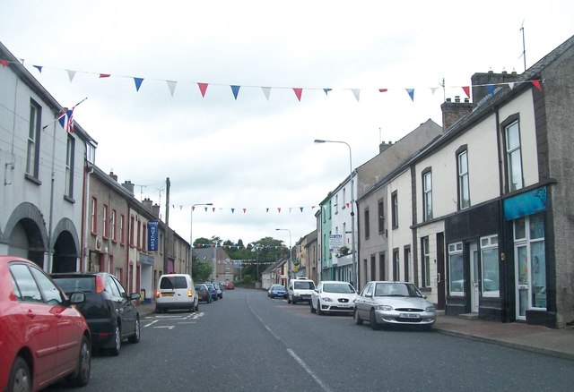 View north along Main Street, Maguiresbridge