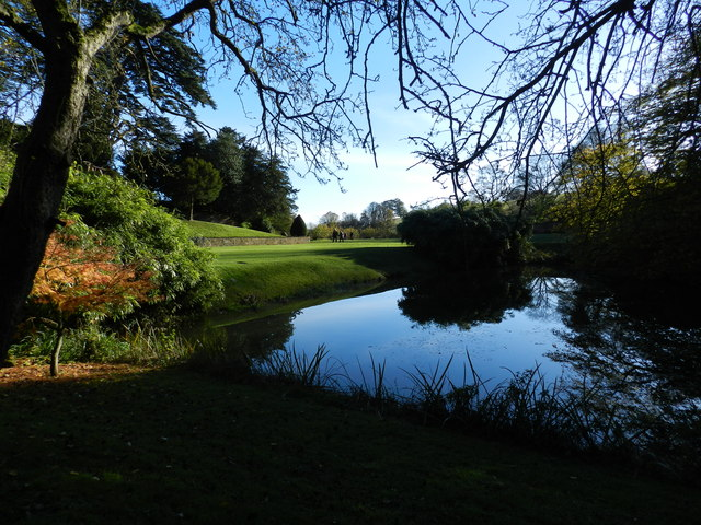 Pool in the gardens of Upton House