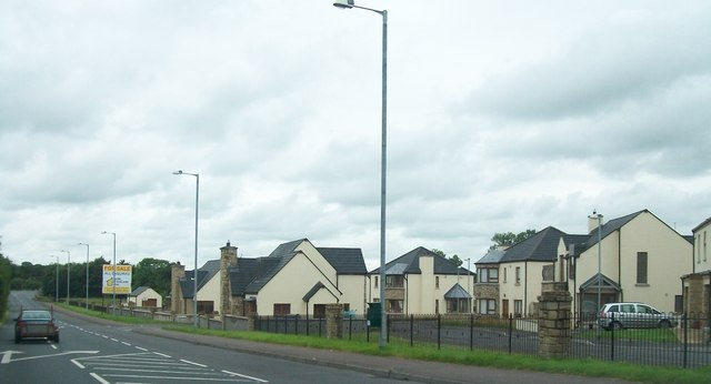 New housing estate on the north side of Lisnaskea