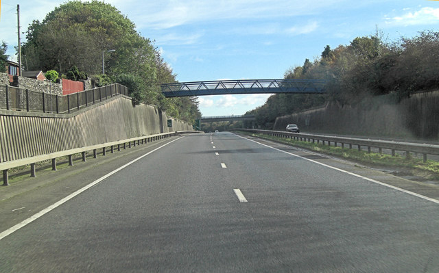 A30 footbridge between Launceston Hospital and College