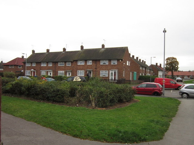 Chelmer Road from Thaxted Close, Longhill Estate