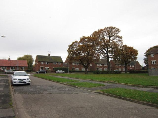 Dart Grove towards Hebden Avenue, Longhill Estate