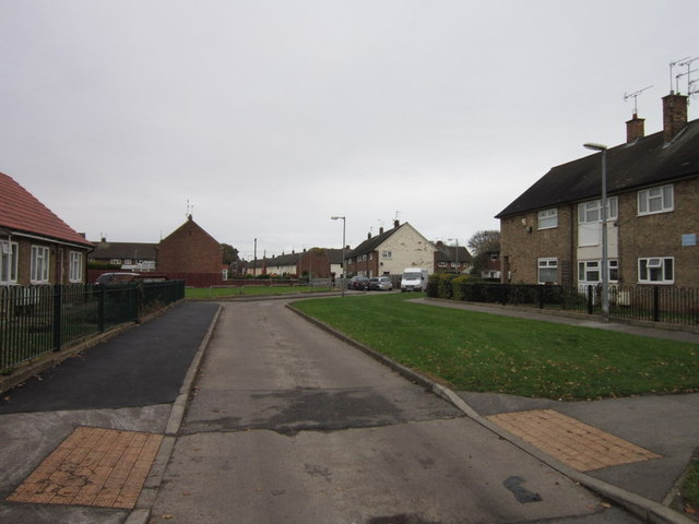 Dunmow Close off Hebden Avenue, Longhill Estate