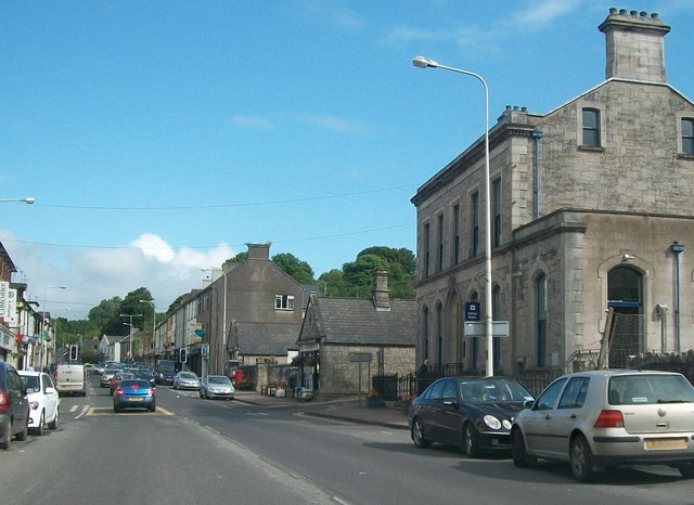 View north along Main Street, Lisnaskea