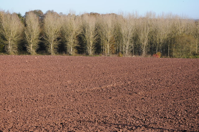 Ploughed field near Rhiwlas Farm