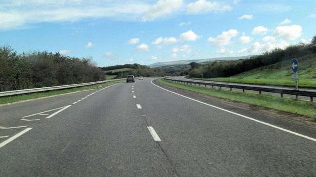 A30 northeast of Staddon