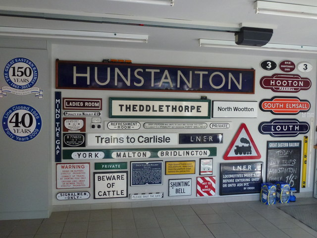 The Royal Station, Wolferton - Collection of original railway signs