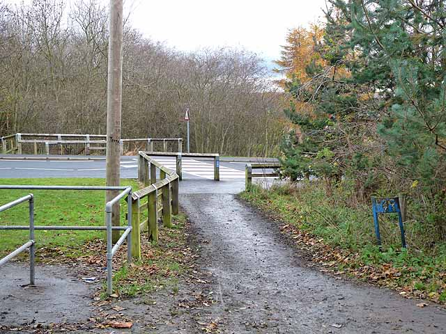 Zebra crossing on the Consett and Sunderland path