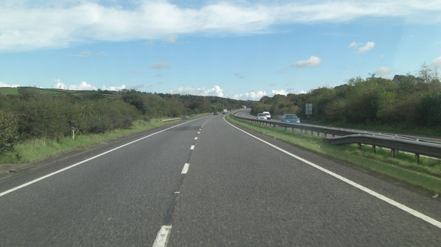 A30 north of Thrushelford