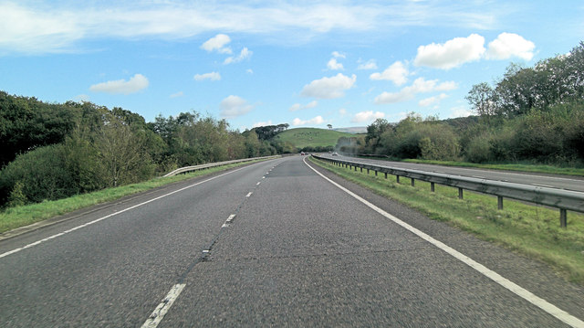 A30 approaches Wrixhill Bridge