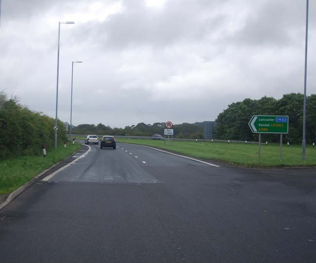 A590, northbound