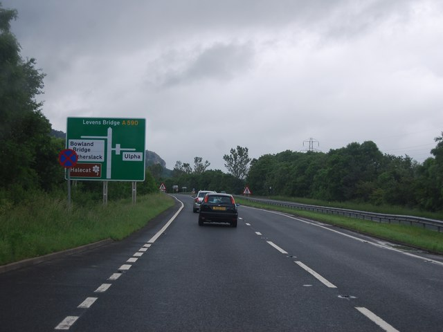 A590 near the Ulpha turning