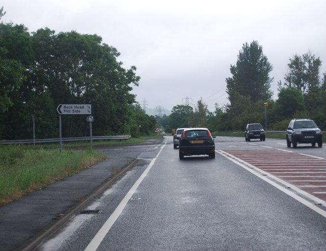 A590, Mill Side turning