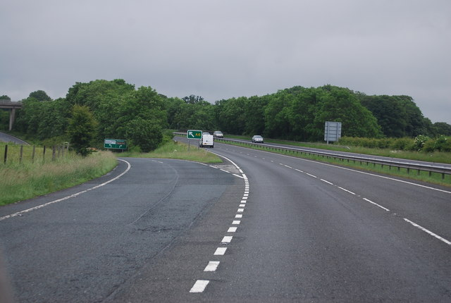 A590 - the A6 turning