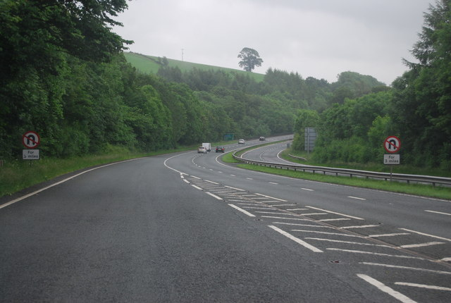 The A590, southbound