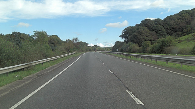 A30 south of Ellacott Barton