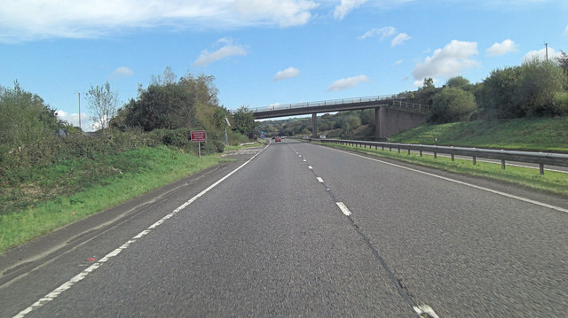 A30 unnamed lane crosses from Rivermead