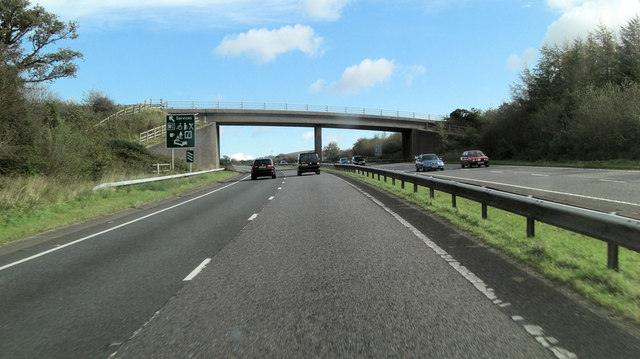 A30 unnamed lane crosses north of Landymoor