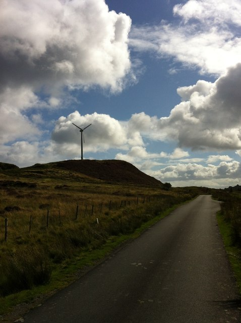 Wind turbine above Flodigarry