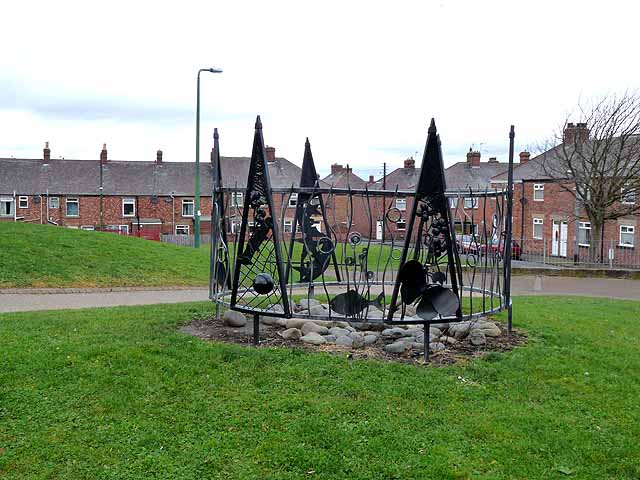 Public artwork at Leadgate