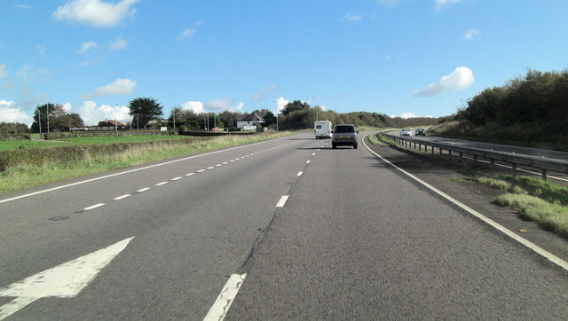 A30 south of Stockley Hamlet