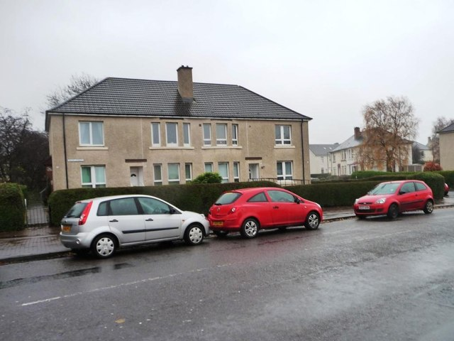 Houses at the north end of Killin Street, Shettleston