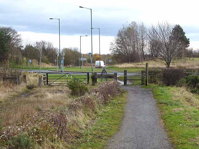 Consett and Sunderland Railway Path crossing Gorecock Lane