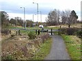 NZ1550 : Consett and Sunderland Railway Path crossing Gorecock Lane by Oliver Dixon