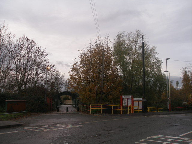 Footbridge at Fitzwilliam station